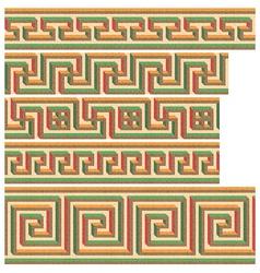 greek - roman seamless mosaics vector image vector image