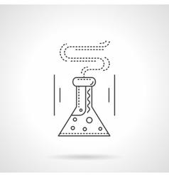 Laboratory flask flat line icon vector image vector image