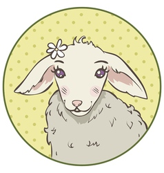 lamb head vector image vector image
