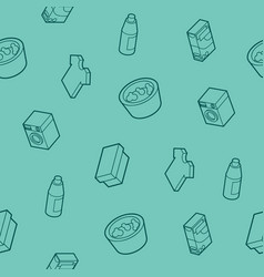 laundry outline isometric pattern vector image