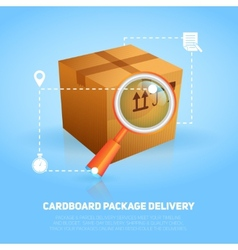 Logistic Package Poster vector image