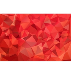 Red abstract background polygon vector image