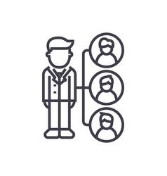 referralsaffilate marketing line icon vector image
