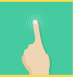 touch screen finger icon finger to touch screen vector image