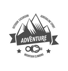 Vintage mountain explorer labels badge or logo vector image vector image