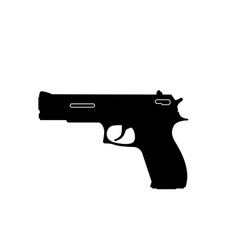 black silhouette of gun on a white background vector image vector image
