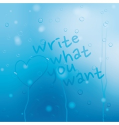 Blue water drops grunge background vector image vector image