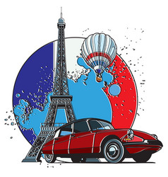 french style badge vector image vector image