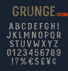 grunge font 006 vector image vector image
