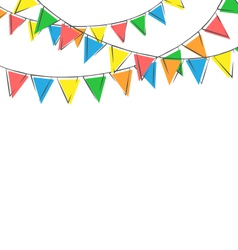 hand-drawn buntings isolated on white vector image vector image