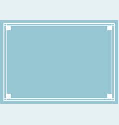 nice ornate frame design vector image
