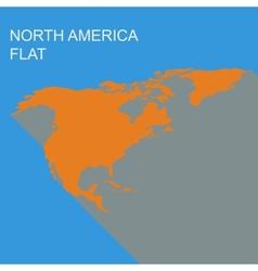 north america vector image