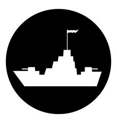 Warship button vector image