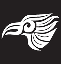 Abstract Eagle On Black Background vector image
