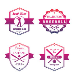 baseball club team logo badges emblems vector image