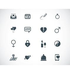 black love icons set vector image
