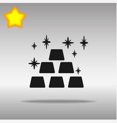 gold black icon button logo symbol vector image vector image