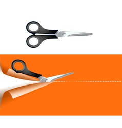 pair of scissors vector image vector image