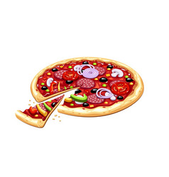 pizza italian traditional vector image