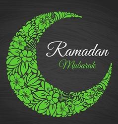 Ramadan Mubarak islamic greeting background vector image