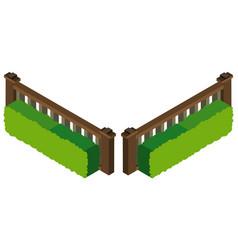 3d design for wooden fence vector image
