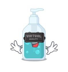 A cartoon image hand sanitizer using modern vector