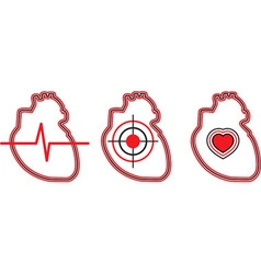 A set of three hearts can be used for the logo vector