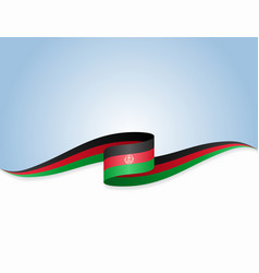 Afghani flag wavy abstract background vector
