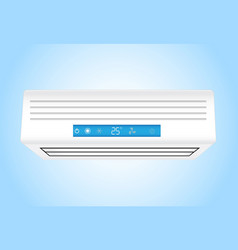Air conditioner realistic on blue background vector