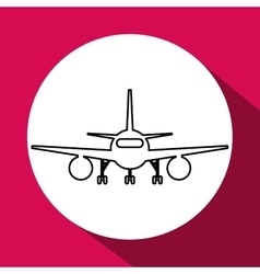 Airplane design flat vector
