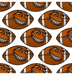 American football balls seamless pattern vector