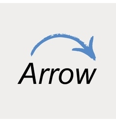 Arrow icon logo emblem vector image