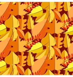 Autumn leaves fall seamless pattern vector