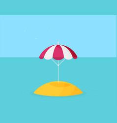 beach umbrella icon flat design vector image