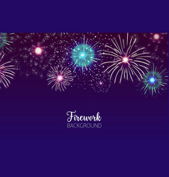 Beautiful background with spectacular fireworks vector