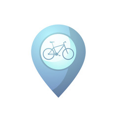 blue bike point vector image