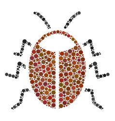 Bug mosaic of dots vector