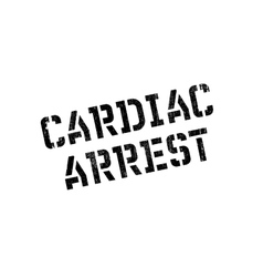 Cardiac Arrest rubber stamp vector