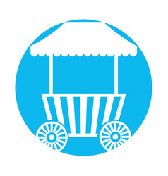 Carnival fast food cart with wheels vector