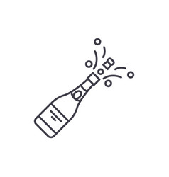 champagne opening line icon concept champagne vector image