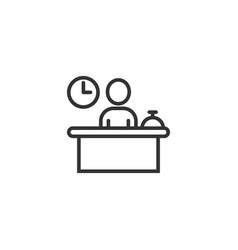 Check in reception icon in flat style booking vector