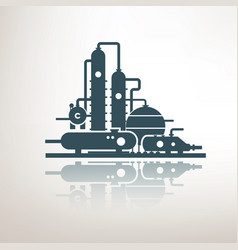 chemical petrochemical or processing plant heavy vector image
