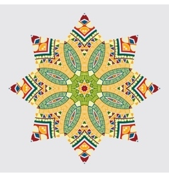 circular abstract pattern in Arabic style vector image
