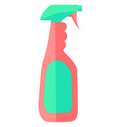 cleaning spray in bottle or container for washing vector image