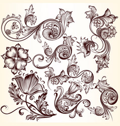Collection decorative swirls for design vector
