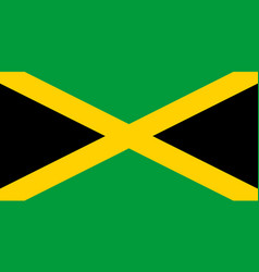 Colored flag jamaica vector
