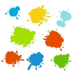 Colorful paint splash vector