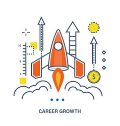 Concept of career growth and start up business vector