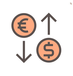 currency exchange icon design for financial vector image
