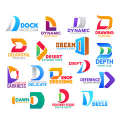 D icons colorful corporate business identity signs vector